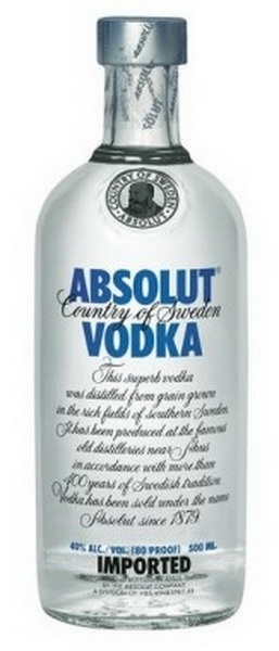 Absolut  blue vodka 40% 0,5L