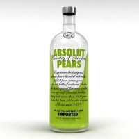Absolut Pears (körte) vodka 1L